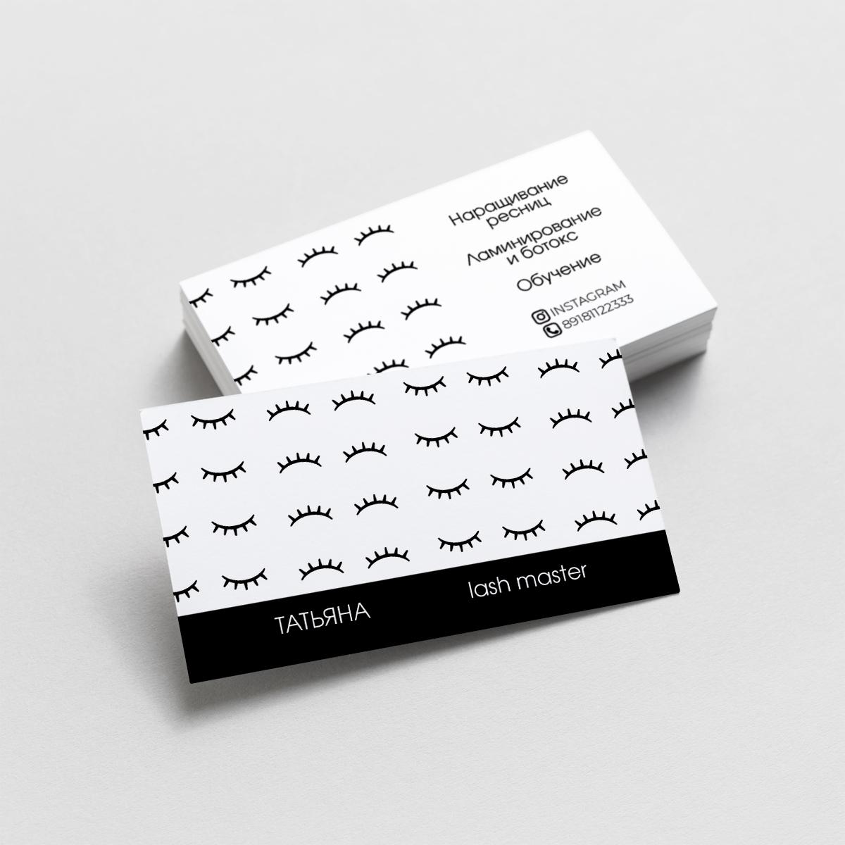 визитка лешмастера ресницы