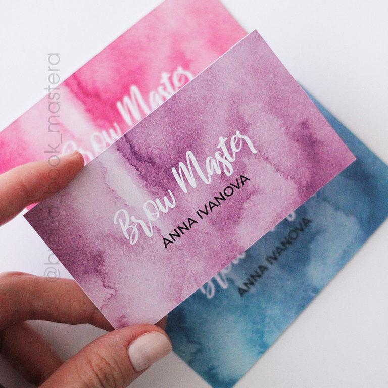 стильные визитки мастера бровиста